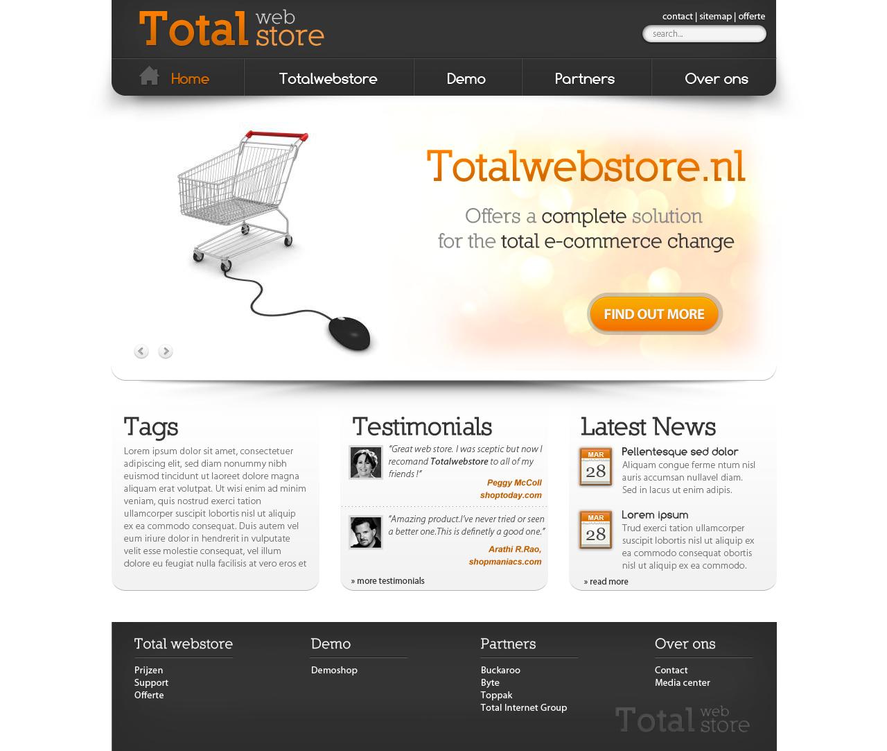Totalwebstore needs a new website design