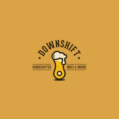 Logo for a retail bike shop selling craft beer