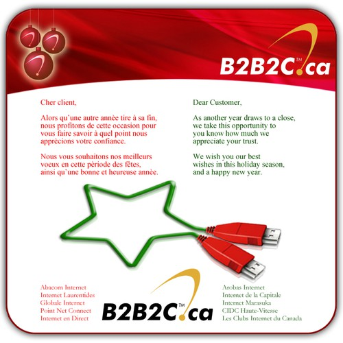 E-Christmas card for an ISP - B2B2C.ca
