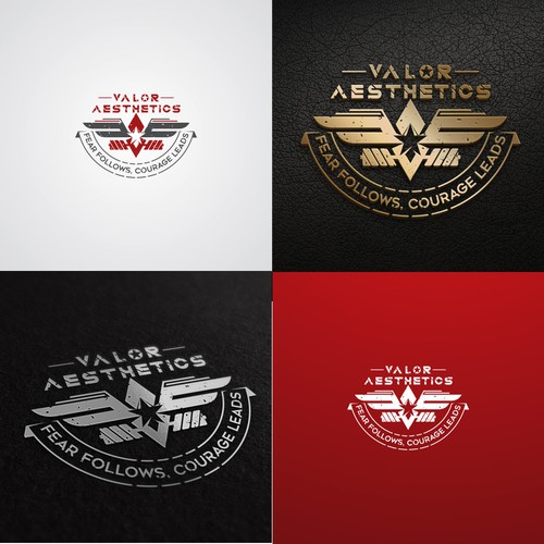 Valor Aesthetics - Courageous Fitness Courageous Fitness / coaching / prep team logo