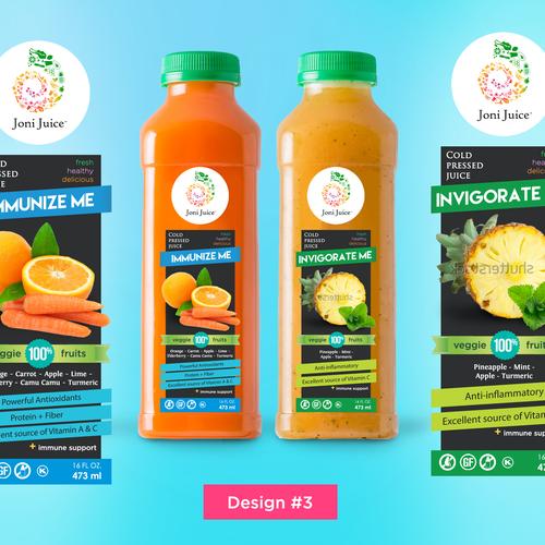Label Design for Joni Juice