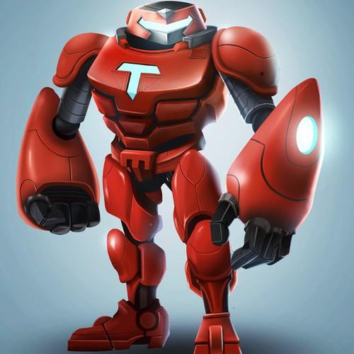 Create a robot character/mascot for Testlauncher.com
