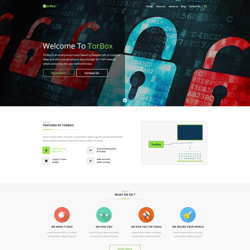 TorBox - Wordpress Homepage Design
