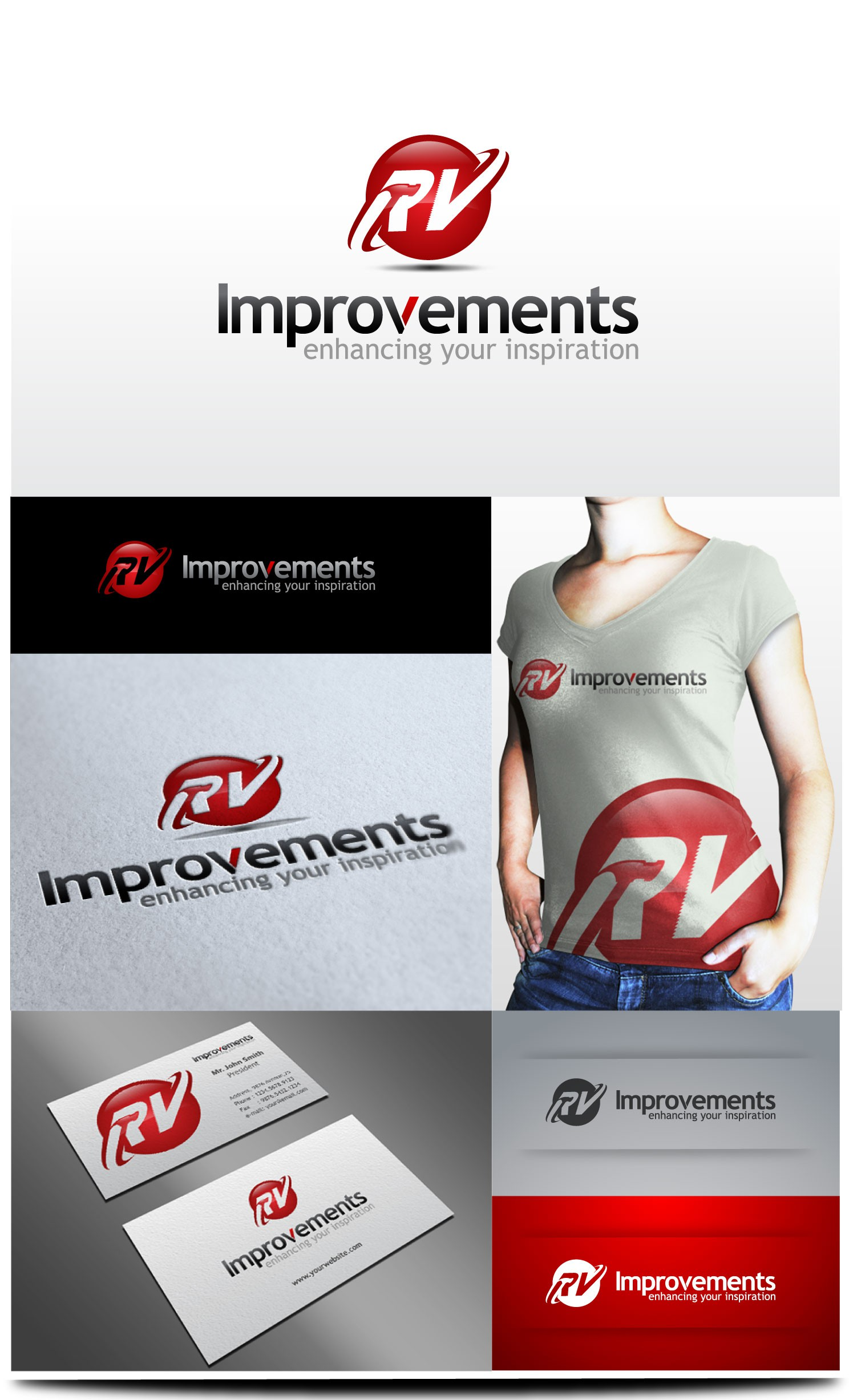 Create the next logo for RV Improvements