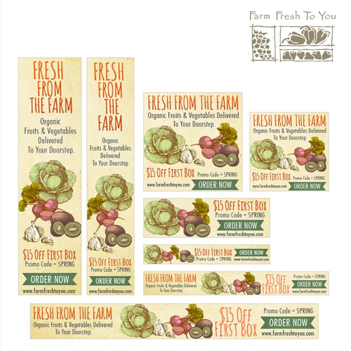 Banner Ads for Farm Fresh To You