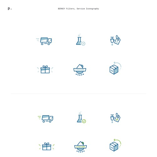 Iconography for Website Homepage