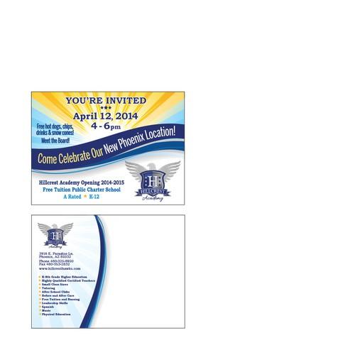 Hillcrest Academy Phoenix Grand Opening Postcard Event