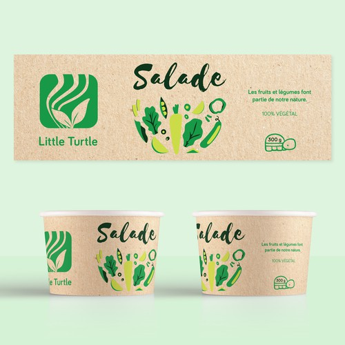 Salad Label Design
