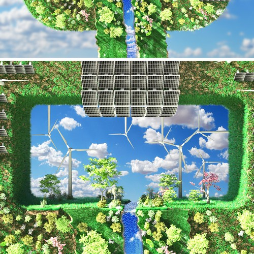 3d Animation for sustainable energy sources