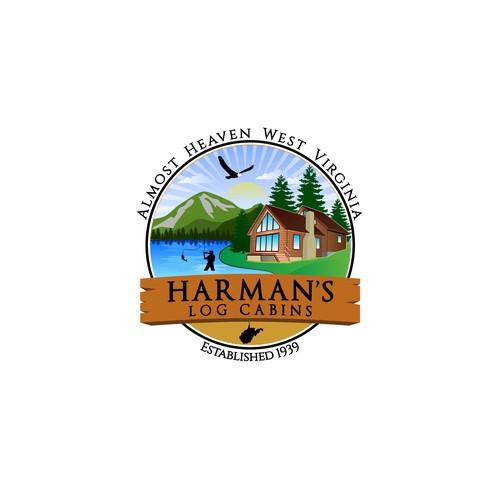 Logo design of a cabin