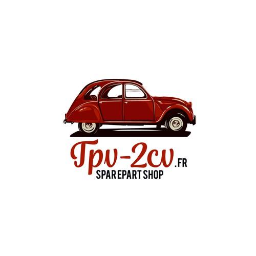 Relooking logo 2CV pour nouveau site e-commerce