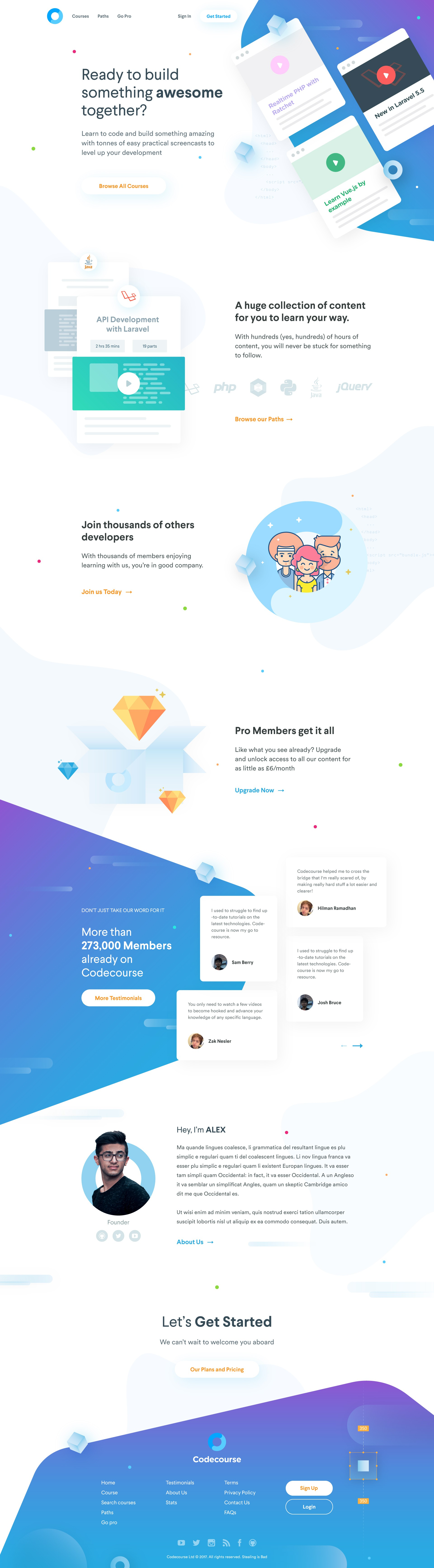 Codecourse needs an awesome new homepage