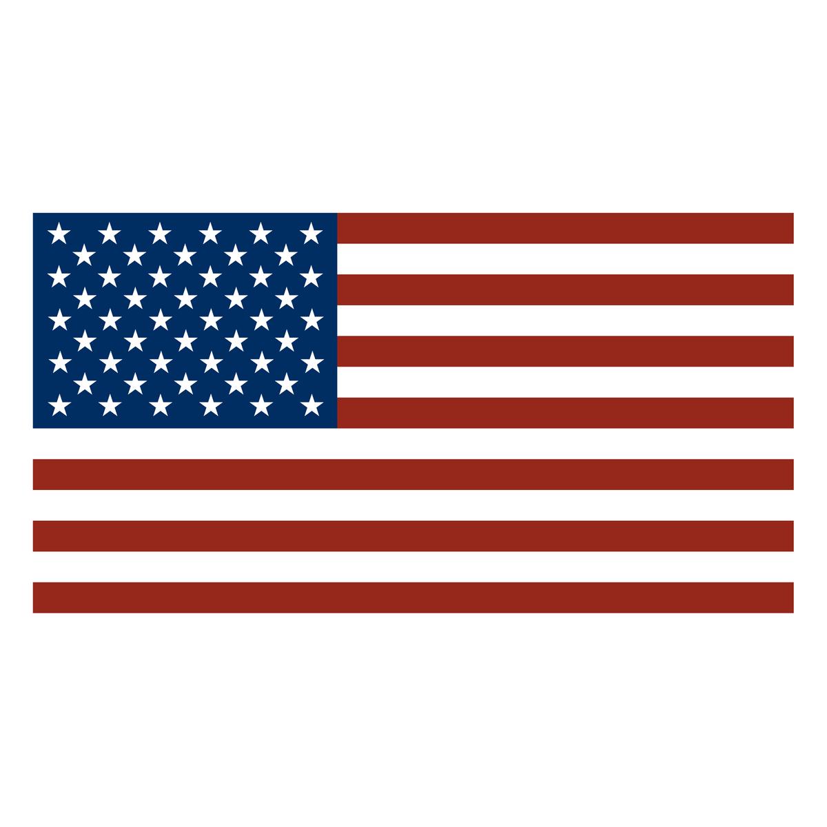 US Flag Color Matched to DTOM Flag