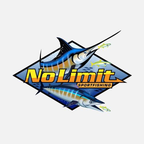 Saltwater, offshore sportfishing logo design concept