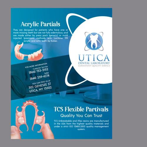 Flyer design for dental laboratory