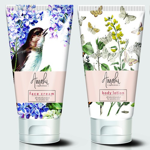 skin care product label and packaging.