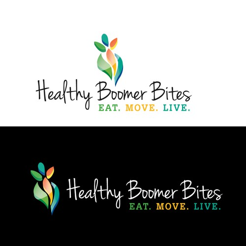 Help Healthy Boomer Bites with a new logo
