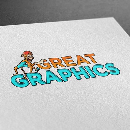 Cartoon logo for graphic company