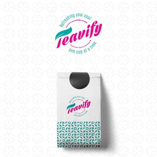 Teavify Logo Design