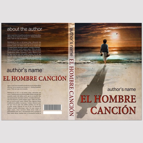 Book Cover for a unique novel EL HOMBRE CANCIÓN