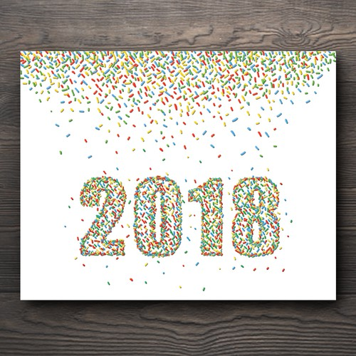 2018 Sprinkle New Year's Card