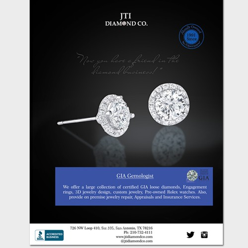 JTI Diamond Co Magzine ad