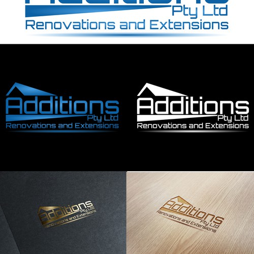 Create a modern logo that inspires people to renovate and extend