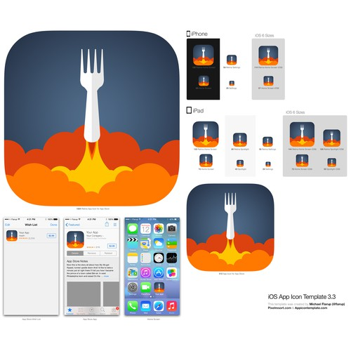 STANDOUT Icon for Food App  - FAST FEEDBACK - GUARANTEED!