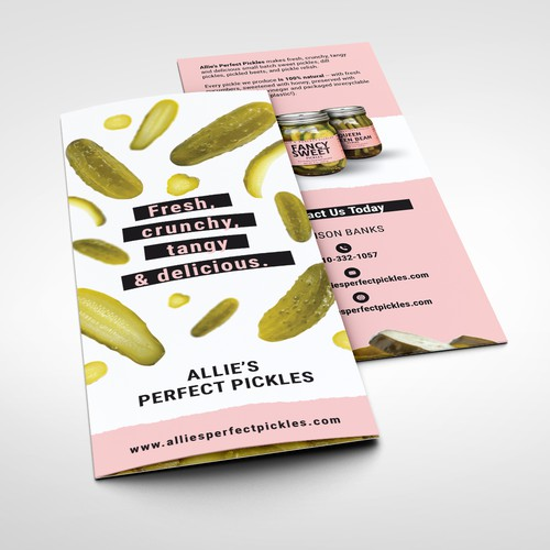 Allie's perfect pickles brochure