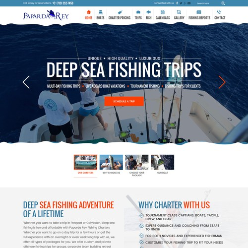 Website of Paparda Rey Fishing Charters