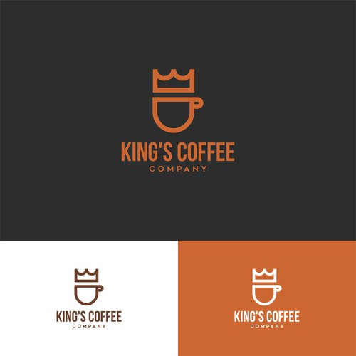 Minimalist Logo Concept for King's Coffee