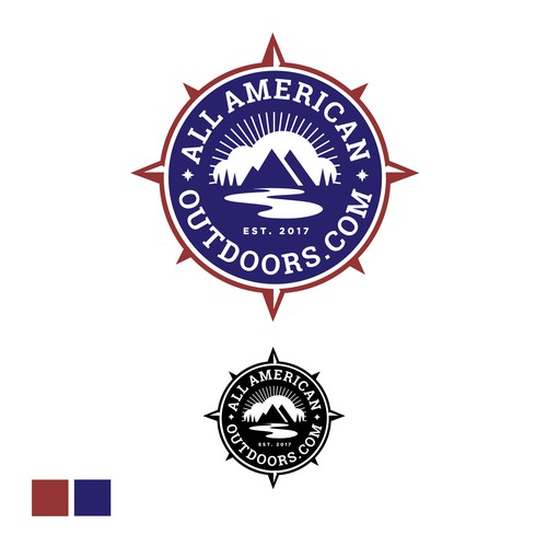 All-American Outdoors logo