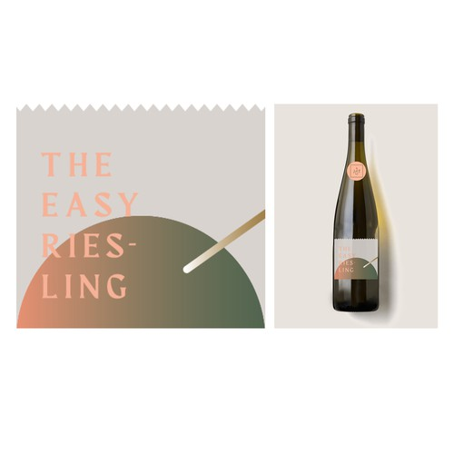 Bold modern label design for German Wine collective