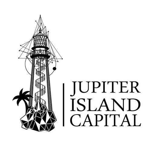 Geometrical lighthouse logo