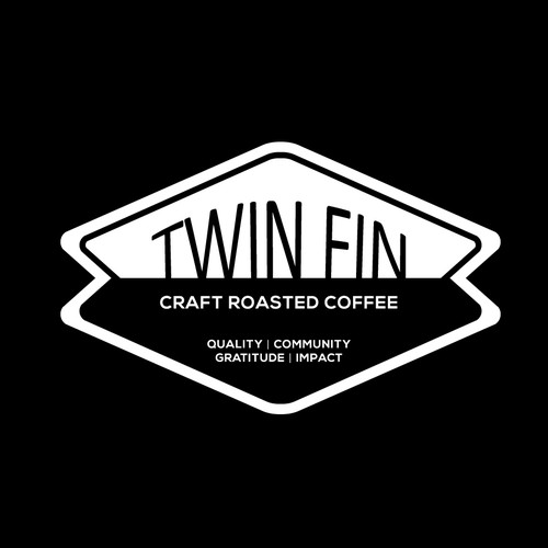 Logo for Twin Fin | Craft roasted coffee