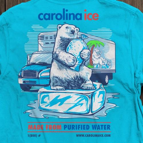 T-shirt Design for CAROLINA ICE COMPANY!!!