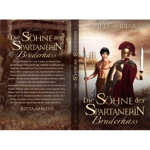"Book Cover: Historical Novel with the title ""Die Söhne der Spartanerin"""
