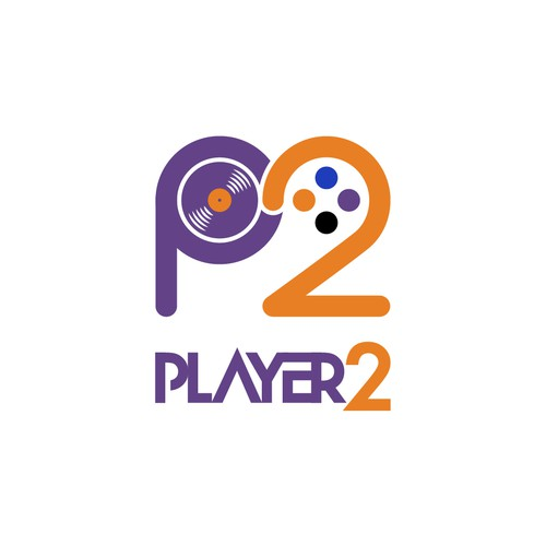 Construct a banging logo for artist/music producer Player2