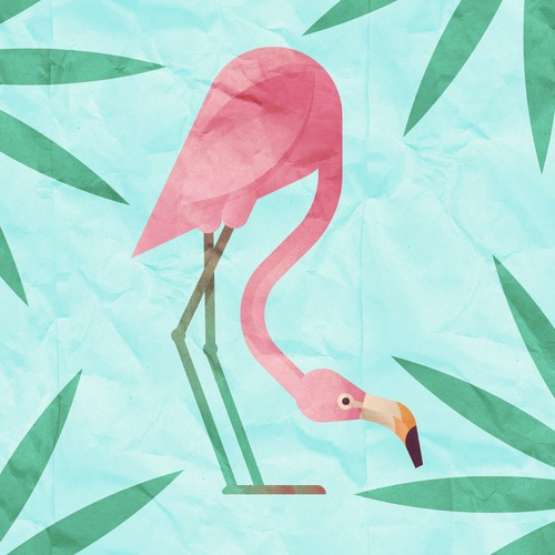 Peaceful Flamingo