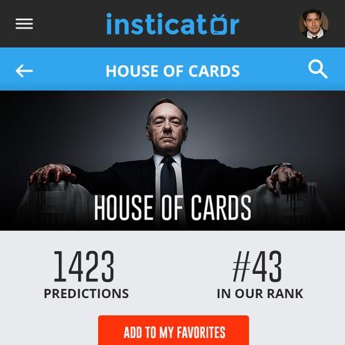 Mobile design for insticator.com
