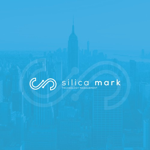 Technology management company logo design