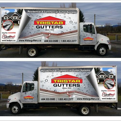 Tristar Gutter truck vehicle wrap (I AM HAVING A PRO INSTALL WRAP)
