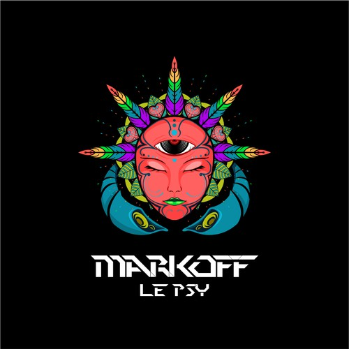 Psychedelic concept for Markoff le Psy