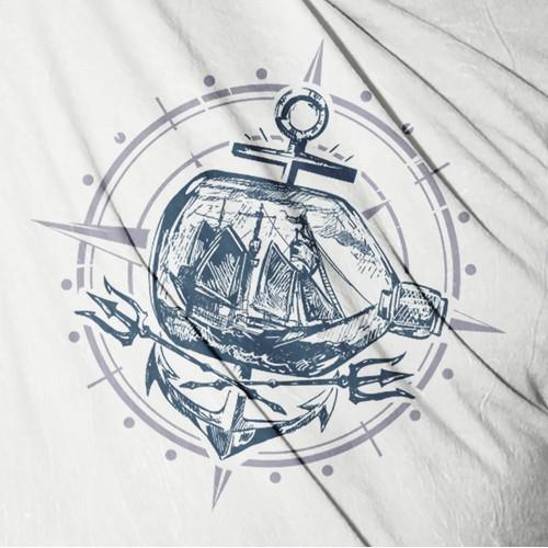 nautical tee shirt concept