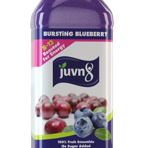 Design an eye catching bottle wrap for a fruit smoothie - Juvn8