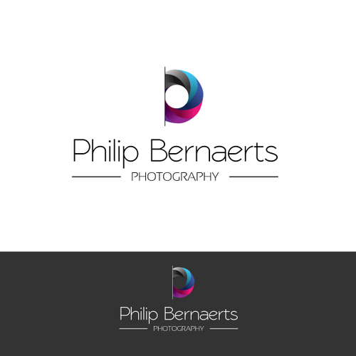 logo and business card for Philip Bernaerts Photography