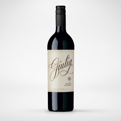 Elegant classic Italian wine label.