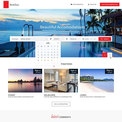 Webdesign, AbodeStays