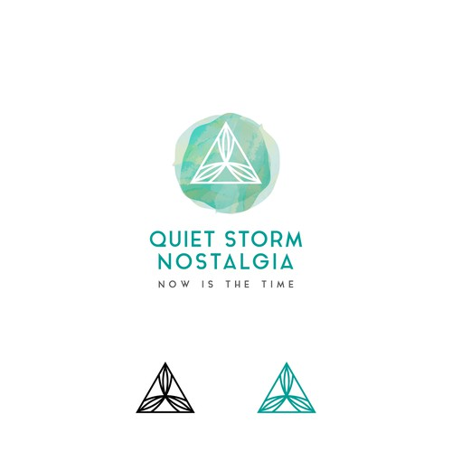 Quiet Storm Nostalgia logo for brand providing outdoor & sports goods as well as lifestyle apparel