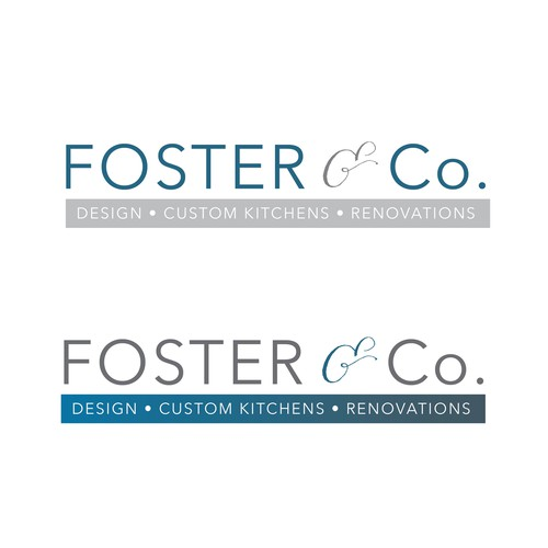 Logo design for cabinetry company